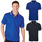 Sports Contrast Trim Polo Shirt