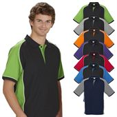 Mens Poly Cotton Contrast Polo