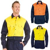 Mens Drill Two Tone Shirt