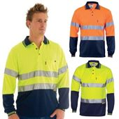 Long Sleeve Reflective Tape Hi Vis Shirt
