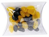 Mini Jelly Beans Corporate Colours Clear Pillow Box
