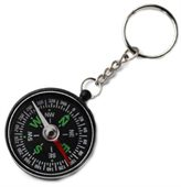 Plastic Compass & Key Ring