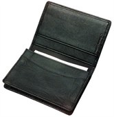 Portable Leather Business Card Holder