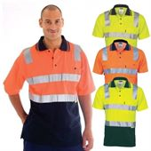 Cotton Back Two Tone Hi Vis Polo Shirt