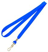 Royal Blue Polyester Lanyard