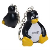 Small Sitting Penguin Keychain