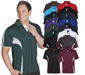 Mens Contrast Sports Polo