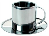 Metal Espresso Cup with Saucer