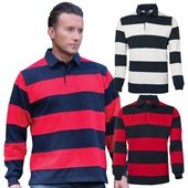 Striped Panel Rugby Top