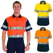 Hi Vis Cotton Drill Reflective Tape Shirt