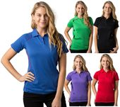 Ladies Contrast Piping Polo Shirt