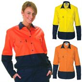 Womens Long Sleeve High Vis Work Shirt