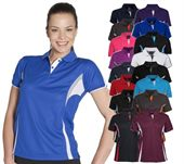Womens Contrast Sports Polo