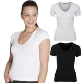 Ladies V Neck Tee Shirt